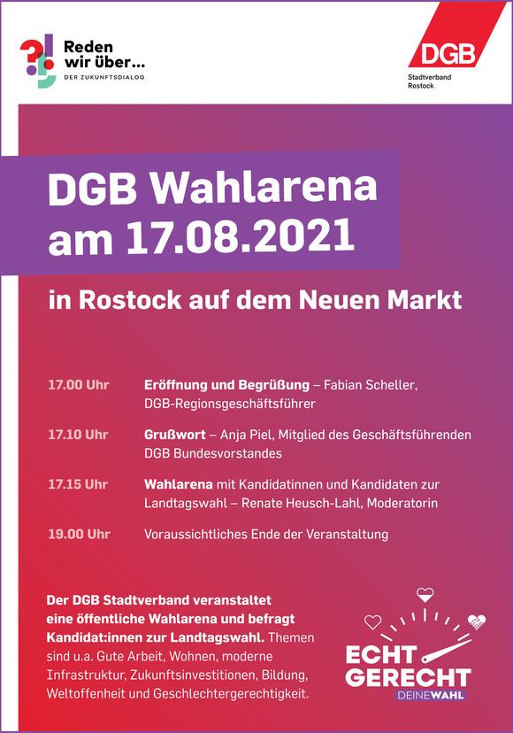 DGB Stadtverband Rostock veranstaltet öffentliche Wahlarena