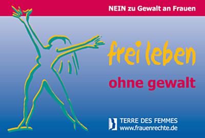 """Fahnenaktion """"frei leben - ohne Gewalt"""""""