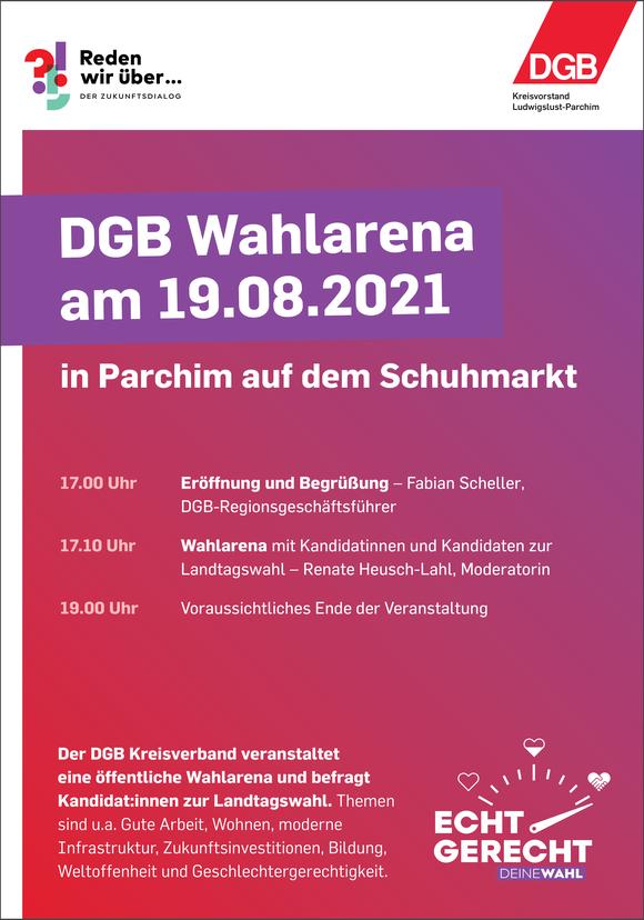 DGB Kreisverband Ludwigslust-Parchim veranstaltet öffentliche Wahlarena