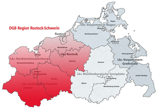 Karte DGB-Region Rostock - Schwerin